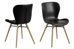 Chair Bondy Set of 2 | Black & Wood
