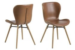 Set of 2 Chairs Bondy | Brown & Wood