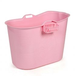 Compact Bathtub Bath Bucket | Pink
