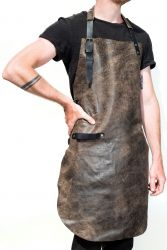 Leather BBQ Apron Belmondo | Dark Brown