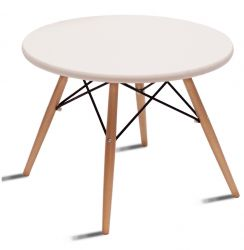 Table d'Appoint Manda Ø 60 cm | Blanc