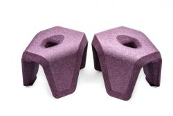 Toilettenhocker stuul  | Violett