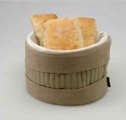 Heated Bread Basket Beige
