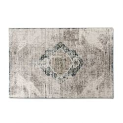 Carpet Aqua Dinh | Beige & Dark Blue