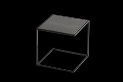 Side Table NOA Steel Frame & Marble | Black & Grey