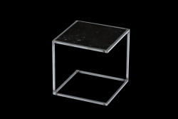 Side Table NOA Untreated Steel Frame & Marble | Black