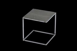 Beistelltisch NOA Unbehandelter Stahlrahmen & Marmor | Grau