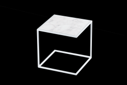 Side Table NOA Steel Frame & Marble | White