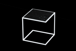 Side Table NOA Steel Frame & Marble | White & Black
