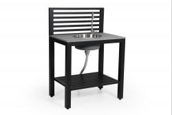Aussenküche mit Wasserhahn und Spülbecken Bellac | Schwarz