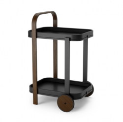 Bar / Serving Cart Bellwood   Black & Walnut