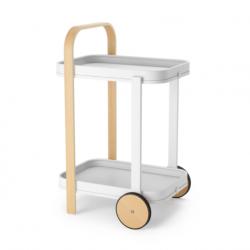 Bar / Serving Cart Bellwood   White & Light Wood