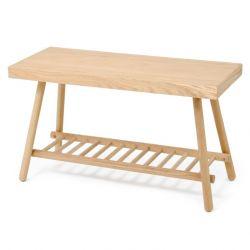 Bench with shelf | Oak
