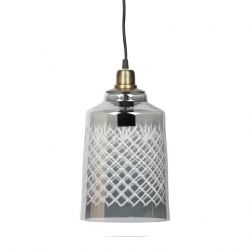 Hanging Lamp Engrave Large | Grey