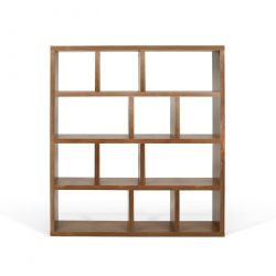 Bookcase 4 Levels Berlin | Walnut