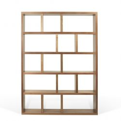 Bookcase 5 Levels Berlin | Walnut