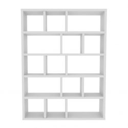 Bookcase 5 Levels Berlin | White