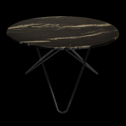 Big O Table | Black Marquina/Black Steel