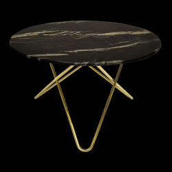 Table Big O | Marquina Noir/Laiton
