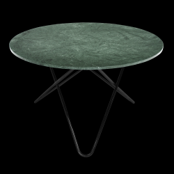 Big O Table | Green Indio/Black Steel