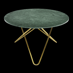 Big O Table | Green Indio/Brass