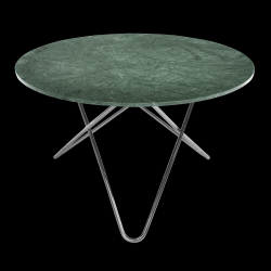 Table Big O | Indio Vert/Acier Inoxydable