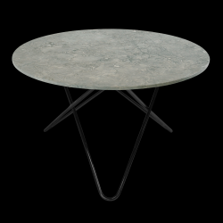 Big O Table | Grey/Black Steel