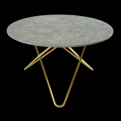 Big O Table | Grey/Brass