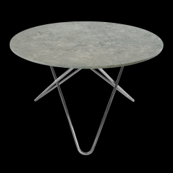 Table Big O | Gris/Acier Inoxydable