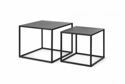 Set of 2 Side Tables Arvid | Black