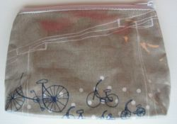 Make-up Tas Fiets met stippen