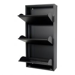 Shoe Cabinet Billy 3 | Black