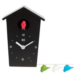 Birdhouse Cuckoo Clock Black | Mini