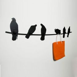 Coat Hanger Birds on Wire