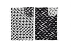 Theedoeken - Bits/Static - Set van 2 | Zwart & Wit