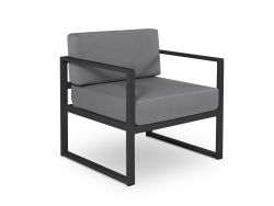 Armchair Nicea | Dark Grey Frame & Dark Grey