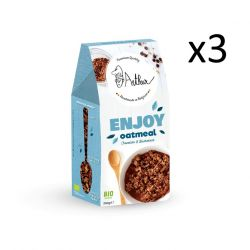 Flocons d'Avoine 350 g Set de 3 | Chocolat Sarrasin
