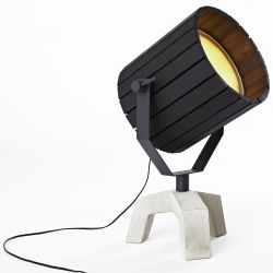 Barrel Lamp- Black