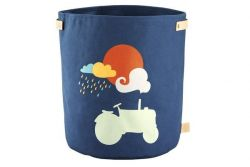 Canvas Storage Basket | Tractor Dark Blue