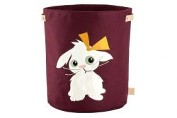 Canvas Storage Basket | Rabbit Plum Red