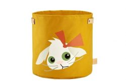Canvas Storage Basket | Rabbit Yellow