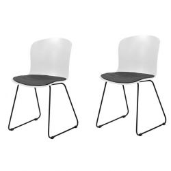 Tale Chair Set of 2 | White & Black
