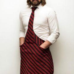 Tie&Apron Chef | Black & Bordeaux Stripe