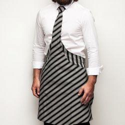 Tie&Apron Chef | Black & Grey Stripe