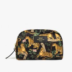Schminktasche Large | Black Lazy Jungle