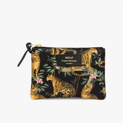 Schminktasche Small | Black Lazy Jungle