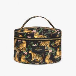 Schminktasche XL | Black Lazy Jungle