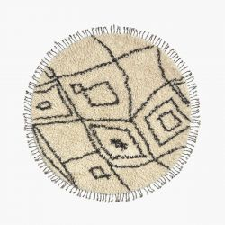 Teppich Alfombra Safro Dia. 150 | Schwarz