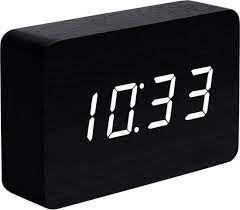 Réveil Brick Click Clock | Noir & Blanc
