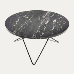 Tisch Big O | Schwarzes Marquina/Schwarzstahl
